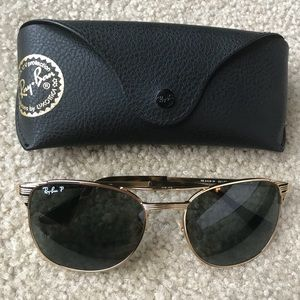 7d34bc2ae68 Ray-Ban Accessories - Ray-Ban Signet Gold Green Polarized Sunglasses